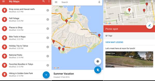 Google обновил My Maps для Android – впервые с 2014 года