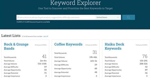Moz представил новый инструмент Keyword Explorer