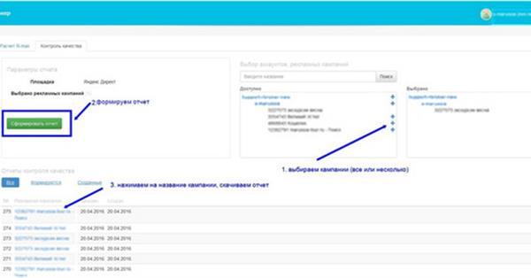 Автоматическая оценка качества рекламных кампаний от сервиса R-брокер