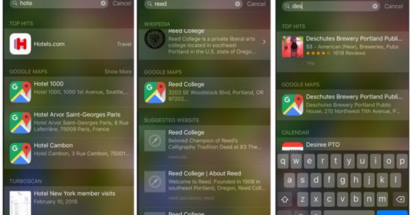 Карты Google для iOS интегрировались с поиском Spotlight