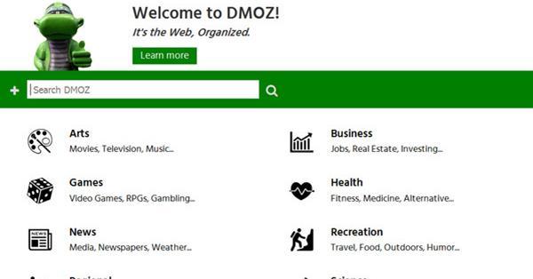 Накануне своего 18-летия DMOZ приобрел новый дизайн