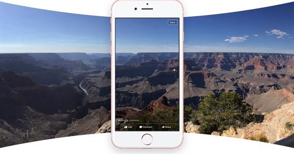 Facebook запустил поддержку панорамных фото