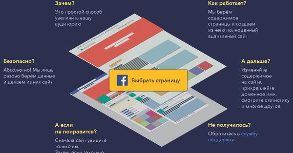 uKit Alt – бесплатный инструмент для конвертации страниц Facebook в сайт