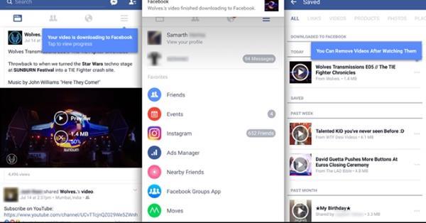 В Facebook для Android можно сохранять видео для офлайн-просмотра