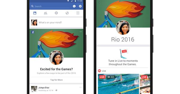 Facebook поддержит Олимпиаду запуском новых функций