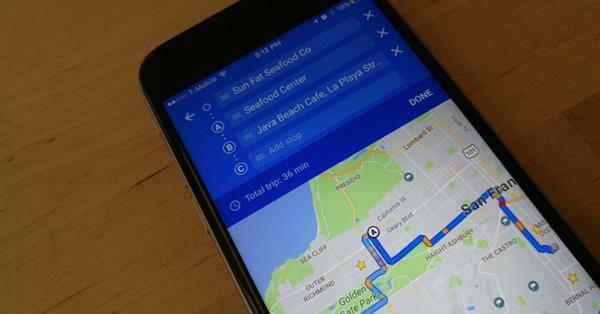 Карты Google для iOS научились строить маршрут через несколько точек