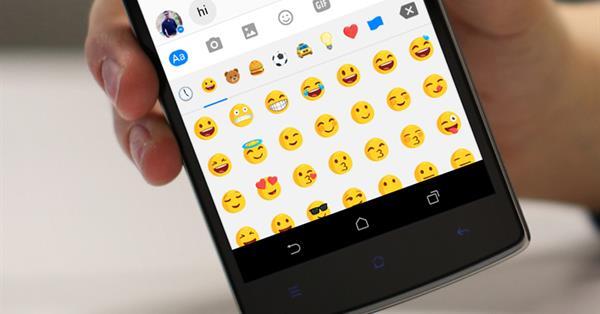В Facebook Messenger можно увеличивать размер эмодзи