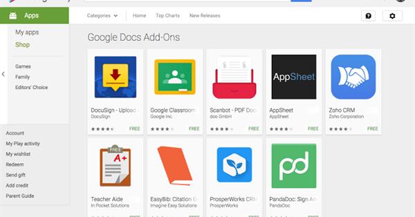 В Google Docs для Android появилась поддержка дополнений