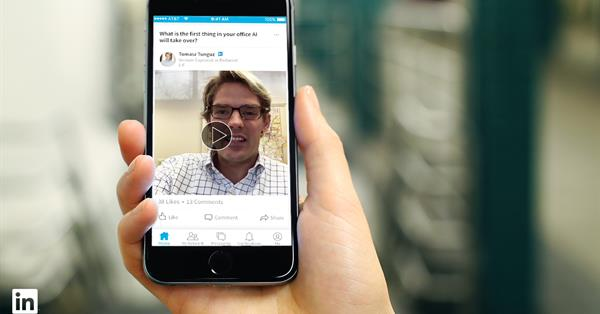 В Linkedin появятся короткие видео профессионалов