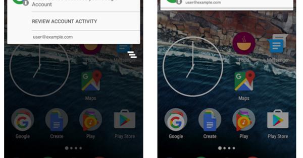 Android уведомит о входе в аккаунт Google с новых устройств