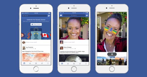 Facebook тестирует запуск камеры сразу после открытия приложения