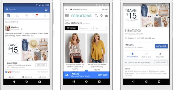 Facebook обновил функционал Offers