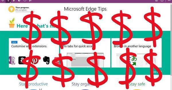 Microsoft будет поощрять пользователей за работу с Edge и Bing