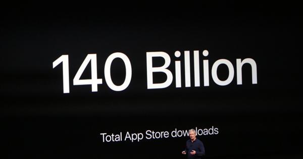 Число загрузок из App Store достигло 140 млрд