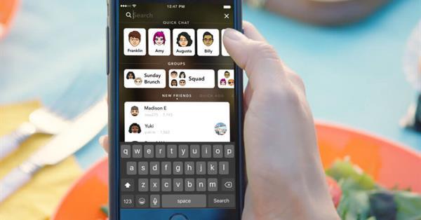 В Snapchat появился общий поиск