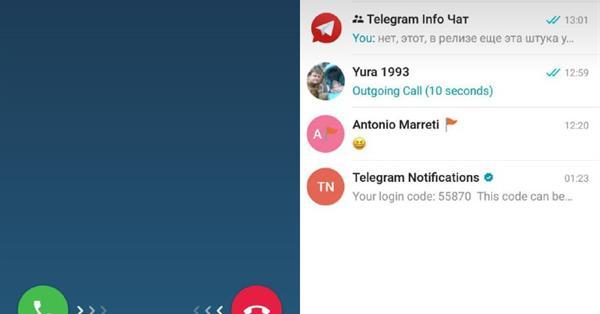 Telegram тестирует функцию звонков