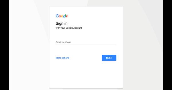 Страница входа в аккаунт Google получит новый дизайн