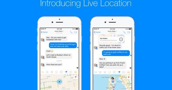 В Facebook Messenger теперь можно следить за местоположением друзей