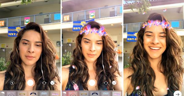 Instagram запустил фильтры-маски для «Историй»
