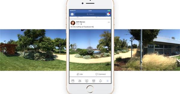 В приложении Facebook появилась возможность съёмки 360° фото