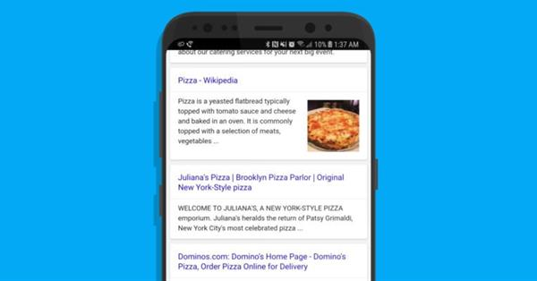 Google тестирует мобильную выдачу без URL