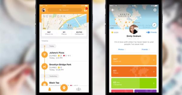 Foursquare провёл редизайн приложения Swarm