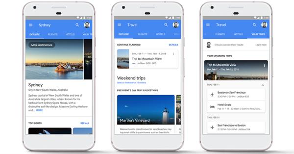 Google позволил бронировать отели и авиабилеты прямо в результатах поиска