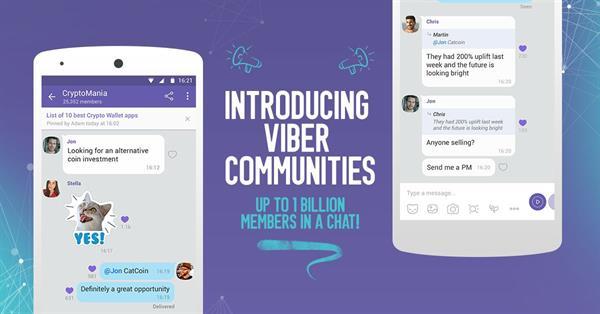 В Viber появятся сообщества на 1 млрд участников