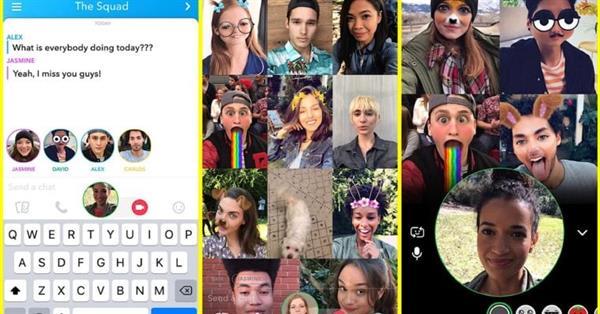 В Snapchat появилась поддержка групповых видеочатов