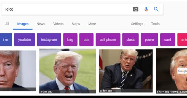 Тролли вывели Трампа в топ поисковой выдачи Google по запросу «идиот»