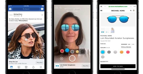 Facebook тестирует рекламу с AR в новостной ленте