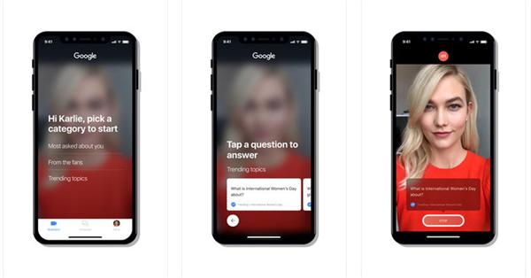 Google Cameos позволит знаменитостям отвечать на частые вопросы пользователей