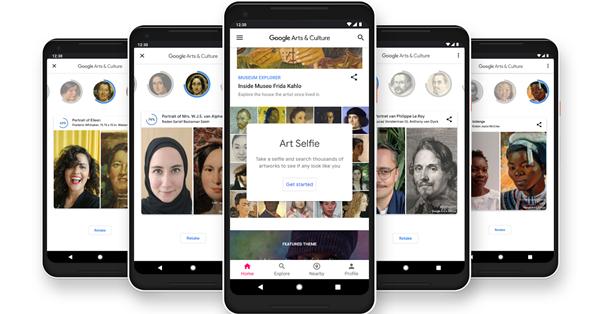 Функция Art Selfie в приложении Google Arts & Culture стала доступна в России