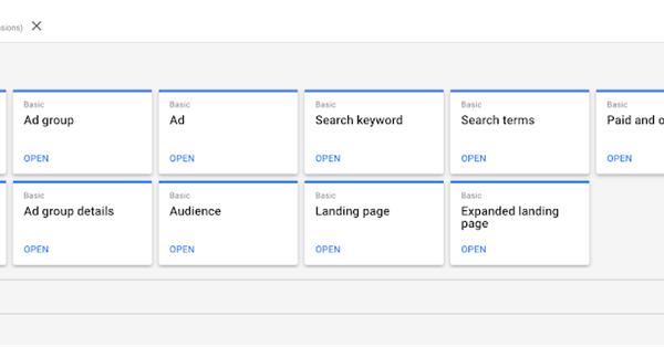 В Редакторе отчётов Google Ads появилось два новых стандартных отчёта