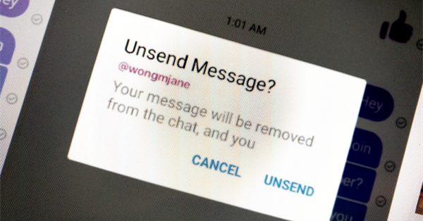 В Facebook Messenger можно будет отменять отправку сообщений