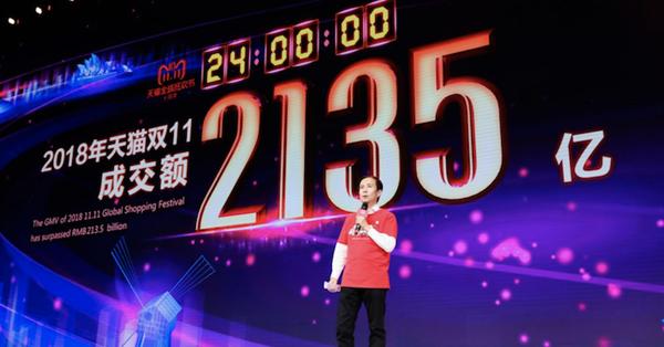 В День холостяка Alibaba продала товаров на $30,8 млрд