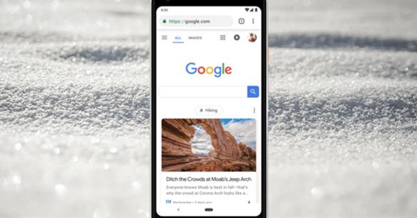 На главной Google для мобильных появилась лента рекомендаций