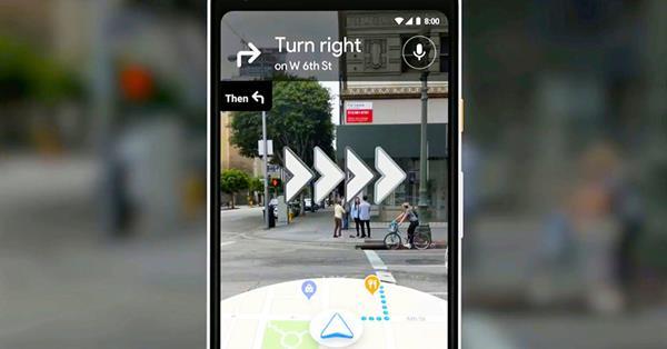 Google начал тестировать AR-навигацию в Картах