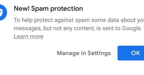 В Google Messages заработала система защиты от спама