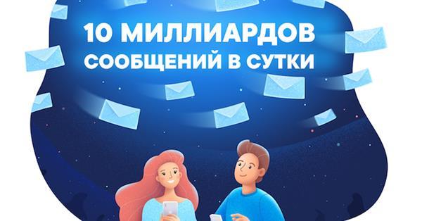 Пользователи ВКонтакте ежедневно отправляют друг другу 10 млрд сообщений