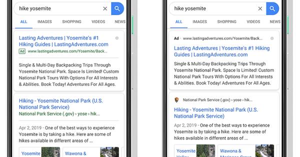 Google запускает новый дизайн мобильной выдачи