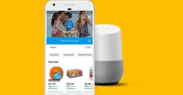 Walmart позволил покупать продукты питания через Google Assistant