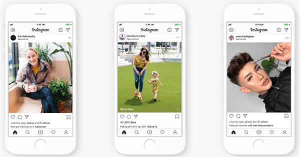 Instagram представил новый рекламный формат – Branded Content Ads