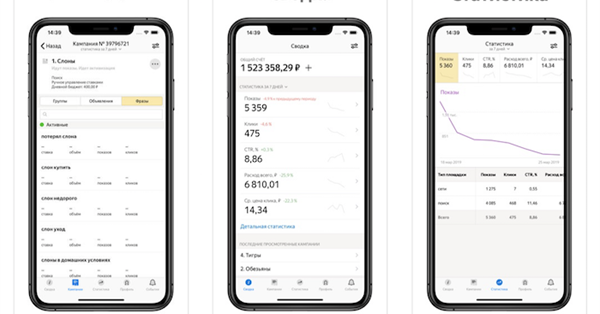 Яндекс обновил приложение Директа