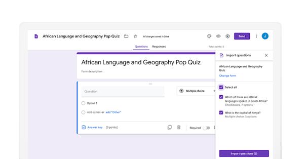 В Google Forms теперь можно импортировать вопросы из одной формы в другую