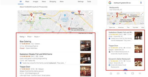 Факторы ранжирования в блоке локальной выдачи Google
