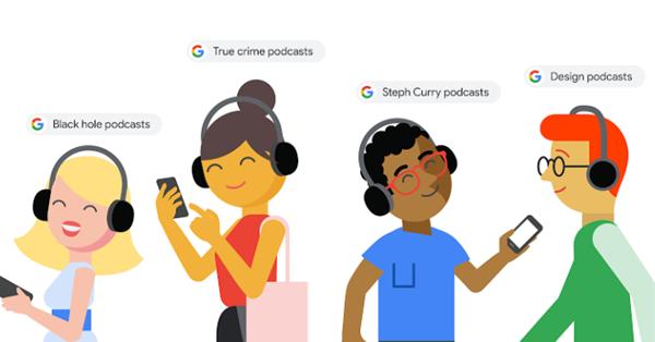 В Google появился новый блок с проигрываемыми подкастами