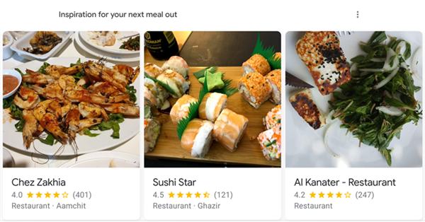 В ленте Google Discover появились рекомендуемые кафе и рестораны