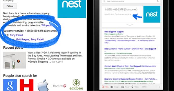 Google больше не поддерживает разметку контактной информации для панелей знаний