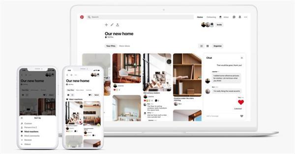 Pinterest добавил новые функции для групповых досок